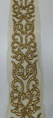 9 Meter Latest Indian Lace Trim Ethnic with  Stone Zari work