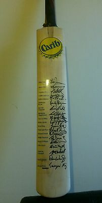 V. Rare Cricket Bat Signed by West Indies Cricket Legends (Lara, Walsh, Ambrose)