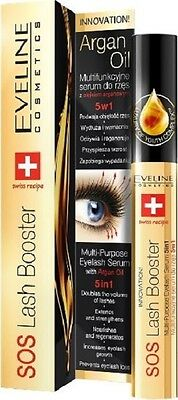 PL/Eveline Eyelash Conditioner with Argan 5in1 SOS Lash Booster !!! SWISS RECIPE