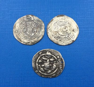 Sassanian kings Lot of x 3 Coins AR ( Silver )