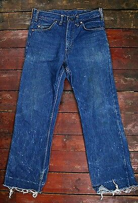 VTG 70s 80s LEVI'S 518-0217 INDIGO DENIM RELAXED FIT JEANS MEXICO MADE W30 L28