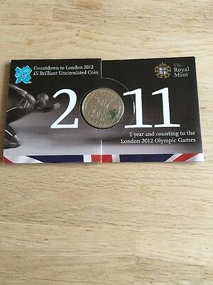 2011 Royal Mint Olympic Games Countdown  Five Pound £5 Bu Coin New