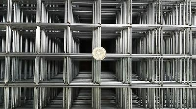 6X Galvanised Welded Wire Mesh Panels 2000mm x 1000 mm 50mm x 50mm Mesh