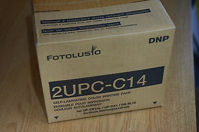 2Upc-C14 Sony Dnp Paper And Ribbon  10 X 15 2 X 200 Sheets Upcr10L Upcx1 Dssl10