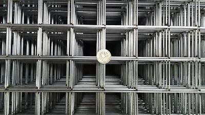3X Galvanised Welded Wire Mesh Panels 2150mm x 950 mm 50mm x 50mm Mesh