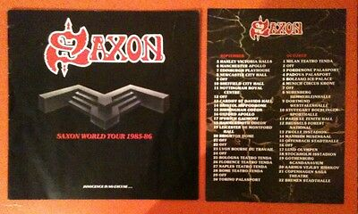 SAXON innocence is no excuse…World Tour 1985-86 Tour Programme + Dates Insert!