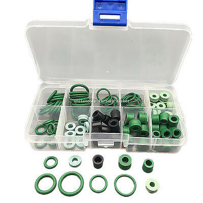 Car Air Condition A/C O-Rings 10 Sizes Assorted Seal Repair HVAC O-Ring Seal Kit