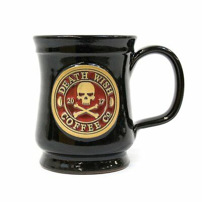 2017 Edition Collectible Death Wish Coffee Ceramic Mug - Black with Red Backfill