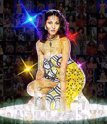 PAM GRIER - COFFY new 2015 photo mosaic cm. 31x42 poster with a lot of pics