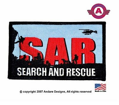 Search and Rescue Land and Air iron on Patch New!