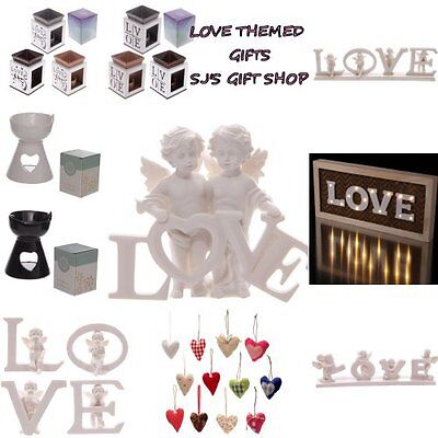 Love Themed Gift Ideas - Sign - Oil Burners - Valentines - Valentine - Loves