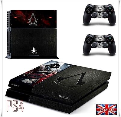 PS4 Assassin Creed Skin Decal Wrap Sticker PlayStation Console Leather Effect