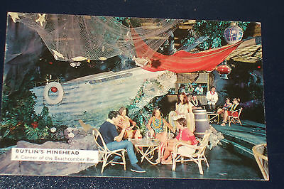 Butlins Minehead M18 A Corner Of The Beachcomber Bar Old Holiday Camp Postcard