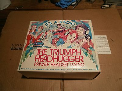 Vintage 1970's Triumph Headhuggers Radio NOS Made In Japan