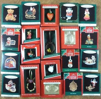 Lot of 20 HALLMARK Keepsake Ornaments in Boxes  New & Used Christmas #3