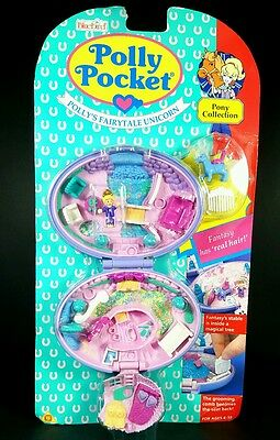*NEW* Polly Pocket 1995 UNICORN MEADOWS Vintage Bluebird Brand New In Packet