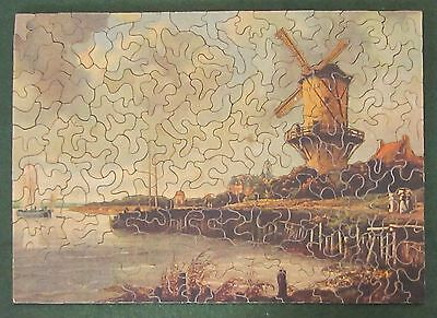 VINTAGE ANDRESON'S WOODEN JIGSAW PUZZLE COMPLETE w/ BOX  Early 1900's