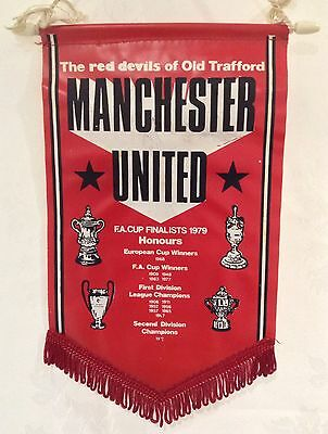 Manchester United Vintage 1970's Honours Pennant