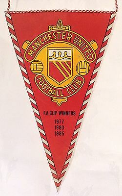 Manchester United Vintage 1980's FA Cup Winners Pennant