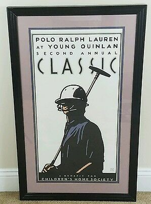 Vintage 90's  Polo Ralph Lauren At Young Quinlan Second Annual Classic Poster