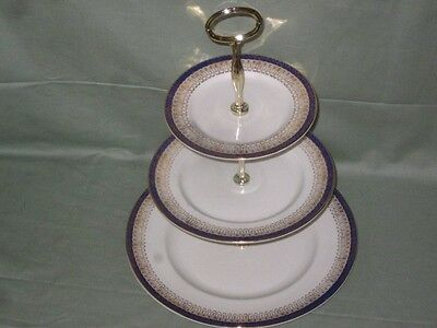 Royal Grafton Majestic/Canterbury Blue Danube 2 or 3-Tier China Cake Plate Stand