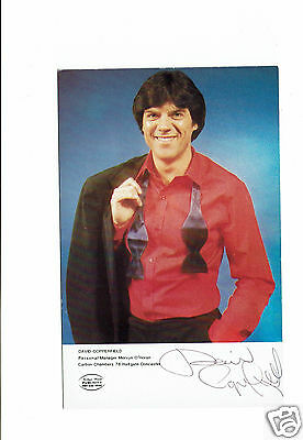 David Copperfield Comedian Three of a Kind Hand signed Vintage Photograph 5 X 3