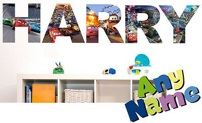 DISNEY CARS letter name wall stickers (3 sizes available & PRE-CUT)