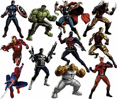 MARVEL AVENGERS wall stickers (30 characters in 3 sizes to choose from)