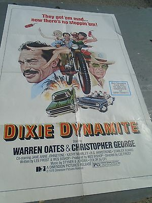 """VINTAGE MOVIE LOBBY poster """"DIXIE DYANMITE"""",WARREN OATES,CHRISTOPHER GEORGE"""