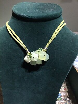 Serpentine Green Stone Necklace