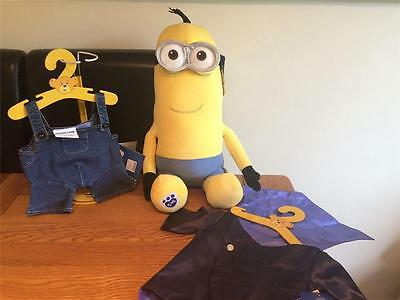 Build A Bear Factory Adorable Minion Kevin & Dungarees & Vampire Costume Bnwt