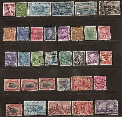 United States Stamps - Group Of Old Usa Used Stamps