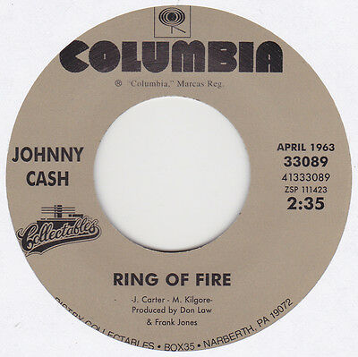 """Johnny Cash - Ring Of Fire / It Ain't Me Babe - 7"""" US Vinyl 45 - New & Unplayed"""