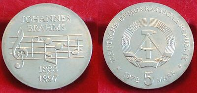5 Mark Brahms 1972   aus original Rolle