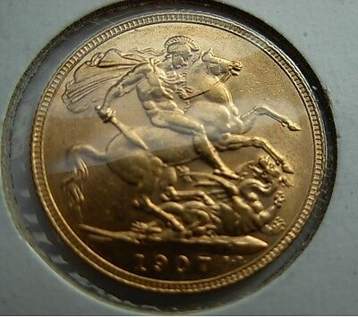 Gold  1907  EDWARD VII sovereign  BEAUTY  UNC  MS as per  pictures UNCERTIFIED