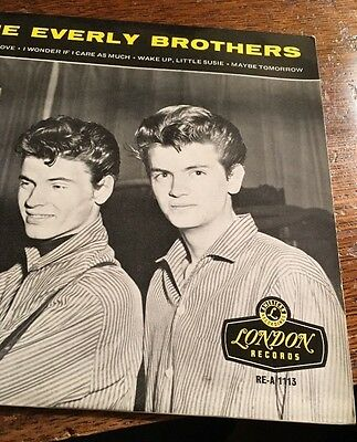 THE EVERLY BROTHERS ORIGINAL 1st PRESSING 1958 N/MINT. RE-A.1113 TRIANGLE CENTRE