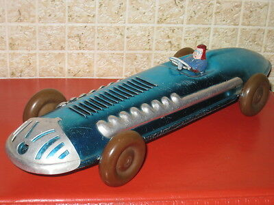 VINTAGE SOVIET RUSSIAN MADE IN USSR TIN METAL TOY RACE CAR 50's GREAT CONDITION