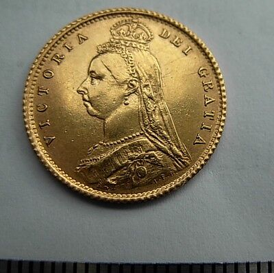 Gold  1887  VICTORIA 1/2 sovereign  BEAUTY UNC/MS  as per  pictures UNCERTIFIED