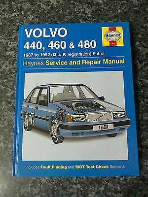 Haynes service and repair manual for Volvo 1987 to 1992 D_ k registration petrol