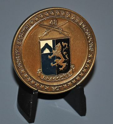 US ARMY 1ST Battalion 48th Infantry Regiment Basic Training Challenge Coin