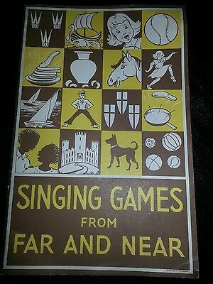 Girl Guides Association Singing Games from Far & Near Vintage Music Booklet