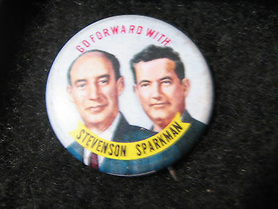 1952  Political Campaign Button Pin