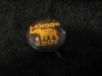 1936  Political Campaign Button Pin