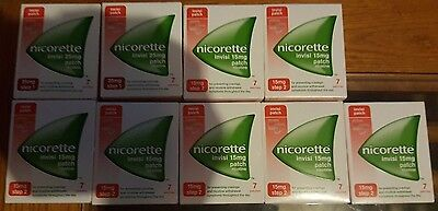 11x nicorette invisi patch 25mg step 1 and 2, 7 patches each pack new.