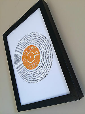 Paul Weller YOU DO SOMETHING TO ME PERSONALISED SONG LYRICS PRINT gift wedding