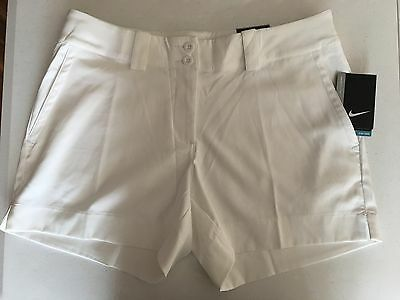 New Nike Golf Women's 845094 100 Sporty Shorts Modern Rise Sz 14 12 10 8