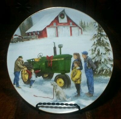 """John Deere Promac Collector Plate """" Holiday Gift So Deere """""""