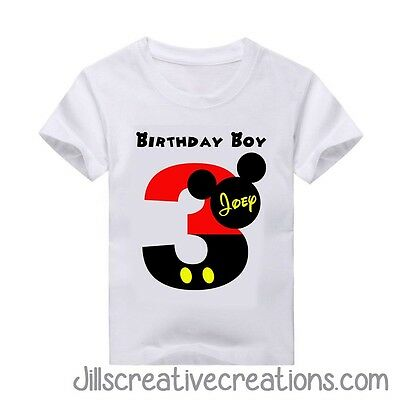 Mickey Mouse T-Shirt, Birthday Shirt, Mickey Mouse, Birthday