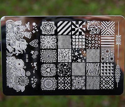 HK Large Nail Art Image Stamp Template Plates Polish Stamping Manicure Image