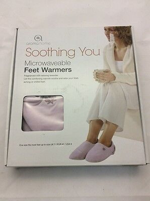 Aroma Home Soothing You Microwaveable Lilac Feet Warmers
